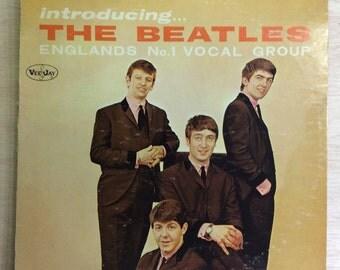 Rock LP Introducing The Beatles McCartney Lennon Vintage Vee-Jay Records Vinyl