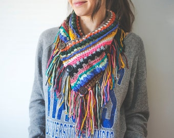 Textured Boho Cowl Crochet Pattern