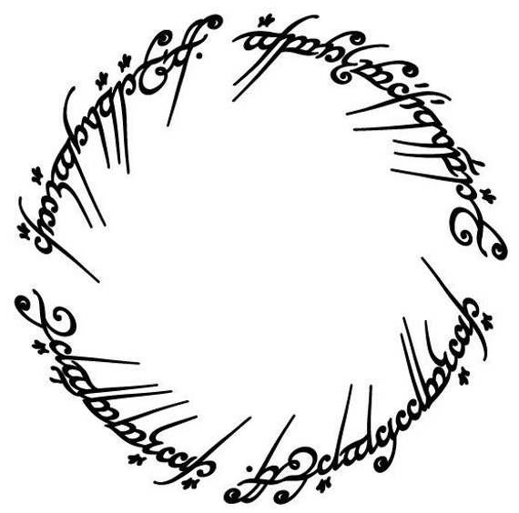 Vinyl Decal Sticker - Elvish Circle decal inspired by Lord of the Rings for Windows, Cars, Laptops, Mac book, yeti, coolers, mugs