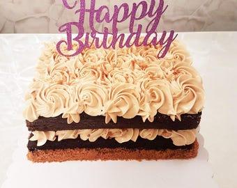 Happy Birthday Topper, Happy Birthday Personalised & Happy Birthday Customised