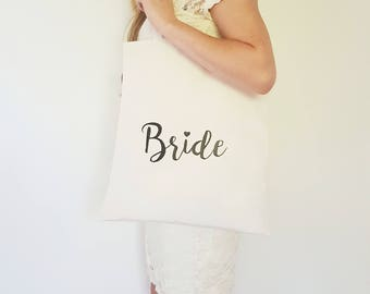 Bride Tote Bag / Wedding Tote Bag