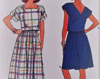 Vintage 1985 Butterick sewing pattern 3278 _ Misses ' top and skirt