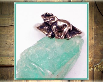 Elephant Small Silver Ring