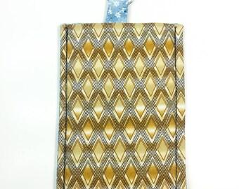 Smartphone Sleeve Case Keyring Brown Beige Diamonds