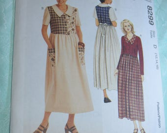 McCalls 8299 Misses Dress Sewing Pattern - UNCUT - Size  12 14 16