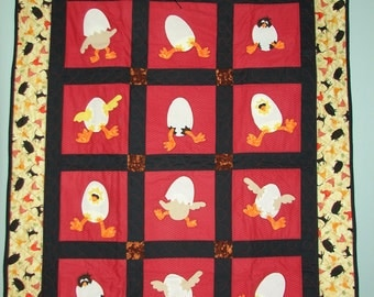 Baby Chicks and Eggs Quilt