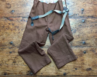Brown Trousers, pure linen