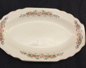 W. S. George Platter Lido White Made in 1924