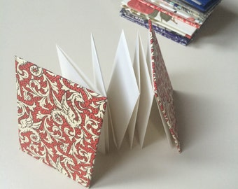 "Accordion-Folded Blank Notebook (3""x4"")"