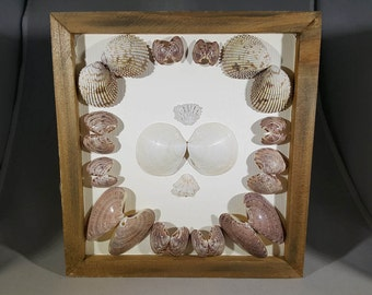 3D Seashell Collage Box, Wall Decor - Two if By Sea