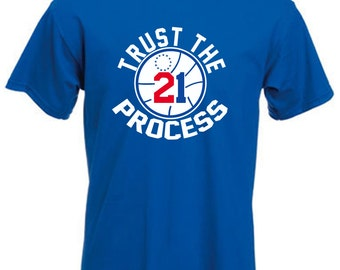 "Royal Joel Embiid Philadelphia ""Trust The Process"" T-shirt"