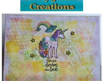 Mixed Media Art - Unicorn