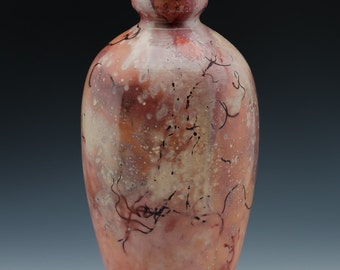 Raku Saggar Fired Vase