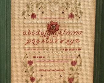 Cross Stitch, Cross Stitch,  Cross Stitch Sampler, Floral Cross Stitch, Vintage Cross Stitch, Alphabet Sampler,Alphabet Sampler Cross stitch