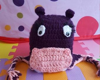 Hippo Hat      Newborn, Child, Kid, Teen,Adult, Cute, Unique