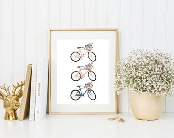 Bicycle Wall Decor bike wall art | etsy
