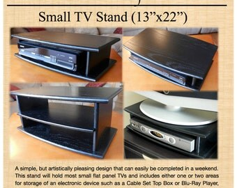 Small TV Stand Woodworking Plan