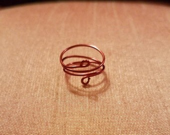 Pink Wire Midi Ring