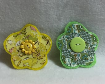 Flower Hair Clips - Set of 2 (#001.1)