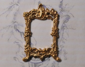 French Louis 15th XV Style Brass Picture Frame Portrait Setting 316J