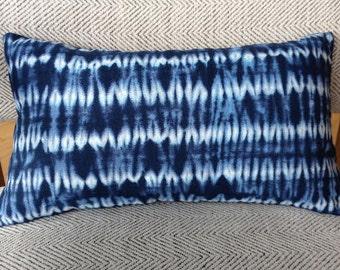 Shibori Style Decorative Pillow / Insert Included