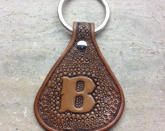 Leather handmade keyfob