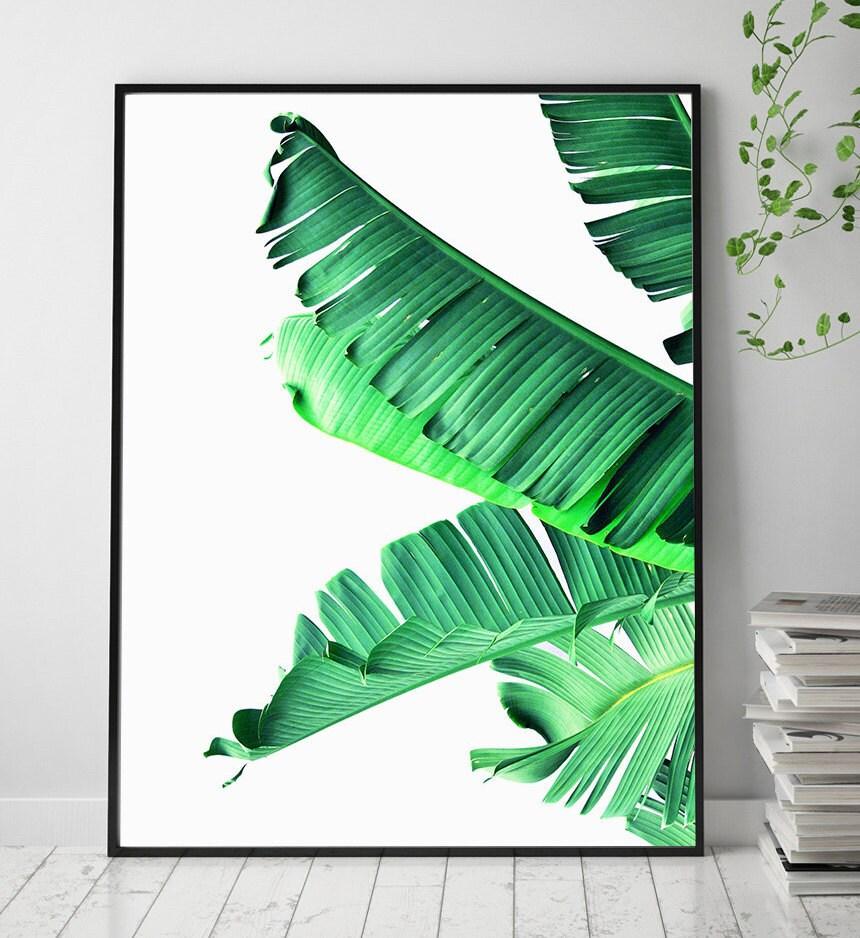 Banana leaf art printable leaf palm palm leaf wall decor banana leaf printable art art prints scandinavian print wall art scandinavian amipublicfo Images