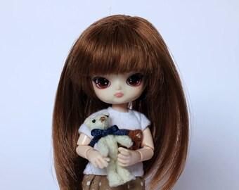 Felt Tiny Teddy Bear for Dolls