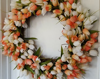 Spring Tulip Wreath, Mother's Day Wreath