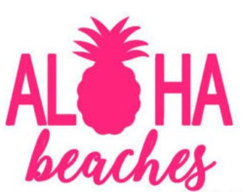 Aloha Beaches Decal