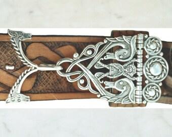 """Celtic belt hook """"Horse spirit"""" - silver"""