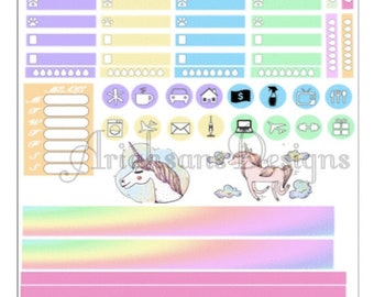 Unicorn Farts Kit for HP, Printable, Planner Stickers, Travel Stickers, Planner, Happy Planner