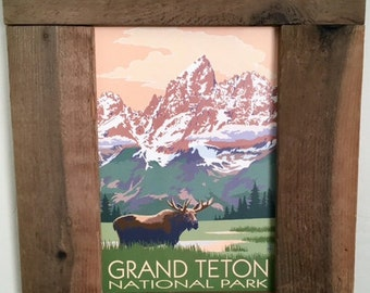 Grand Teton National Park Rustic Frame