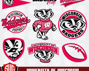 University of Wisconsin Monogram svg, Badgers Silhouette Studio,University of Wisconsin Cricut, Screen Printing, Cameo, Logo_20