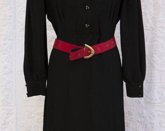 vintage crêpe silk,black dress,70s,sicilian black dress,vintage glamour,vintage beauty,made in Italy,woman dress,special occasion,sartorial