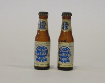 Vintage PABST BLUE RIBBON Miniature Souvenir Beer Bottles