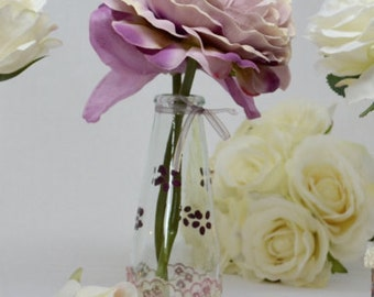Small flower vase in dusty mauve