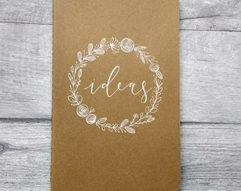 Ruled Medium Moleskine Notebook with Hand-drawn Wreath