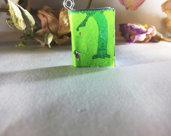 The Giving Tree- Miniature Book Necklace