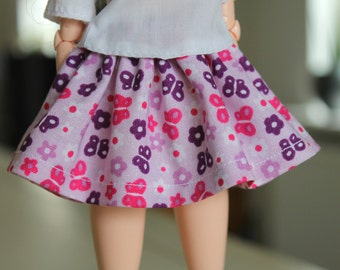 Handmade pullip/ obitsu doll skirt with elastic waistband