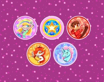 Star VS The Forces of Evil pins
