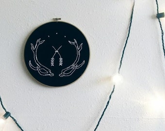 Deer horn embroidery