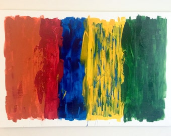 Primary Colors. 24x36 Acrylic Canvas Painting
