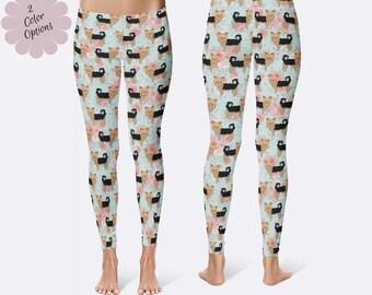 Yorkie Leggings, Yorkshire Terrier Leggings, Dog Leggings, Yorky Leggings, Ladies Leggings, Print Leggings, Yoga Pants, Womens Leggings