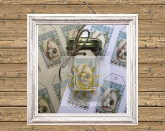 Easter Printable Mason Jar Tag, Easter Favor Tags, Easter Tags, Vintage Bunny, DIY Easter Tag, Easter Favour, Vintage Easter, Easter Bunny