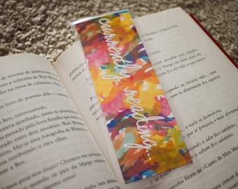 Currently Reading... Handmade Bookmark - Quote