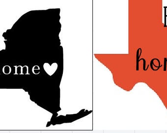 State decal, state car decal, car decal of state, home decal, home state decal
