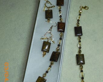 Brown Jasper Necklace and Earring Set