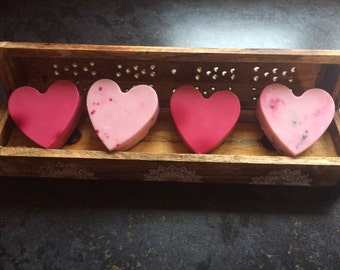 Rose scented homemade soaps