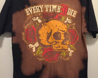 Every Time I Die - Hand Bleached // Vintage Inspired Band T-Shirt